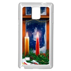 Christmas Lighting Candles Samsung Galaxy Note 4 Case (White)