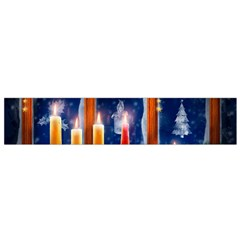 Christmas Lighting Candles Flano Scarf (Small)