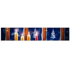 Christmas Lighting Candles Flano Scarf (Large)