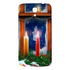 Christmas Lighting Candles Samsung Galaxy Mega I9200 Hardshell Back Case