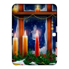 Christmas Lighting Candles Samsung Galaxy Tab 4 (10.1 ) Hardshell Case