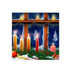 Christmas Lighting Candles Satin Bandana Scarf