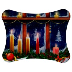 Christmas Lighting Candles Jigsaw Puzzle Photo Stand (Bow)