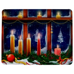 Christmas Lighting Candles Jigsaw Puzzle Photo Stand (Rectangular)