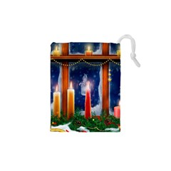 Christmas Lighting Candles Drawstring Pouches (XS)
