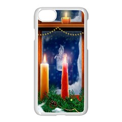 Christmas Lighting Candles Apple iPhone 7 Seamless Case (White)