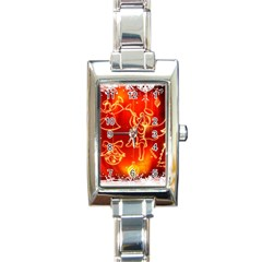 Christmas Widescreen Decoration Rectangle Italian Charm Watch