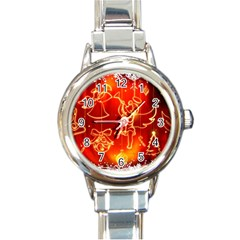 Christmas Widescreen Decoration Round Italian Charm Watch