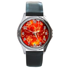 Christmas Widescreen Decoration Round Metal Watch