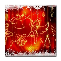 Christmas Widescreen Decoration Tile Coasters