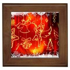 Christmas Widescreen Decoration Framed Tiles