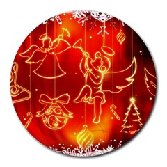 Christmas Widescreen Decoration Round Mousepads