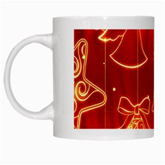 Christmas Widescreen Decoration White Mugs