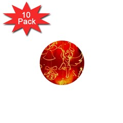 Christmas Widescreen Decoration 1  Mini Buttons (10 pack)