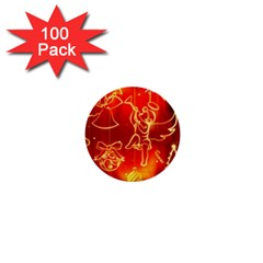 Christmas Widescreen Decoration 1  Mini Buttons (100 pack)