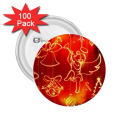 Christmas Widescreen Decoration 2.25  Buttons (100 pack)