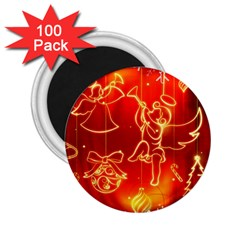 Christmas Widescreen Decoration 2.25  Magnets (100 pack)