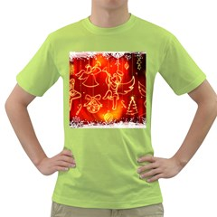 Christmas Widescreen Decoration Green T-Shirt