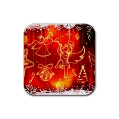 Christmas Widescreen Decoration Rubber Coaster (Square)