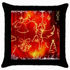 Christmas Widescreen Decoration Throw Pillow Case (Black)