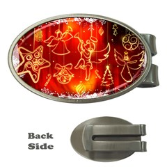 Christmas Widescreen Decoration Money Clips (Oval)