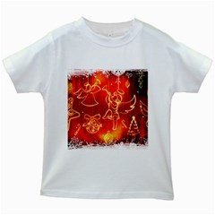 Christmas Widescreen Decoration Kids White T-Shirts