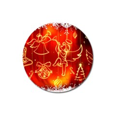 Christmas Widescreen Decoration Magnet 3  (Round)