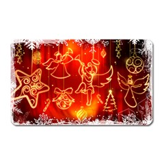 Christmas Widescreen Decoration Magnet (Rectangular)