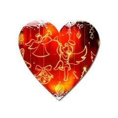 Christmas Widescreen Decoration Heart Magnet