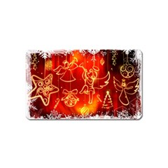 Christmas Widescreen Decoration Magnet (Name Card)