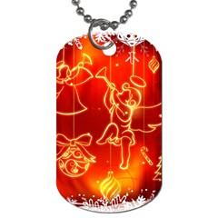 Christmas Widescreen Decoration Dog Tag (One Side)