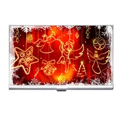 Christmas Widescreen Decoration Business Card Holders