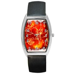 Christmas Widescreen Decoration Barrel Style Metal Watch