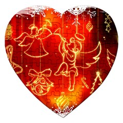 Christmas Widescreen Decoration Jigsaw Puzzle (Heart)