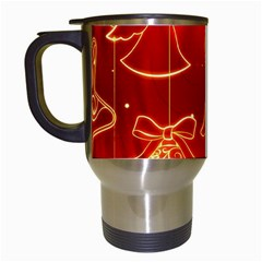 Christmas Widescreen Decoration Travel Mugs (White)
