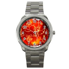 Christmas Widescreen Decoration Sport Metal Watch
