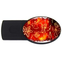 Christmas Widescreen Decoration USB Flash Drive Oval (4 GB)
