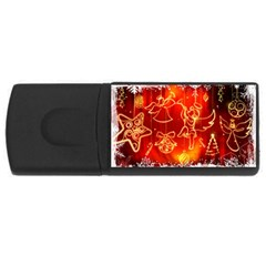 Christmas Widescreen Decoration USB Flash Drive Rectangular (4 GB)
