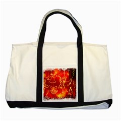 Christmas Widescreen Decoration Two Tone Tote Bag