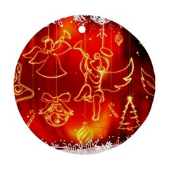 Christmas Widescreen Decoration Round Ornament (Two Sides)
