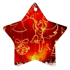 Christmas Widescreen Decoration Star Ornament (Two Sides)