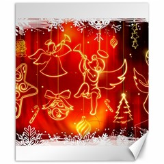 Christmas Widescreen Decoration Canvas 8  x 10