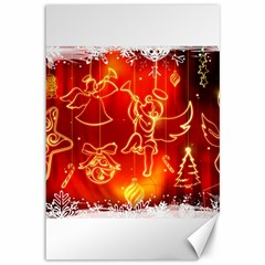 Christmas Widescreen Decoration Canvas 12  x 18