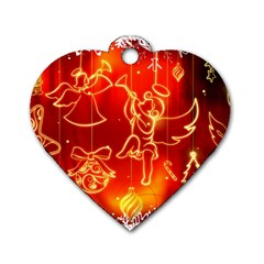 Christmas Widescreen Decoration Dog Tag Heart (One Side)