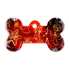 Christmas Widescreen Decoration Dog Tag Bone (Two Sides)