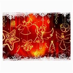 Christmas Widescreen Decoration Large Glasses Cloth (2-Side)