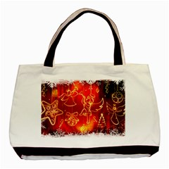 Christmas Widescreen Decoration Basic Tote Bag (Two Sides)