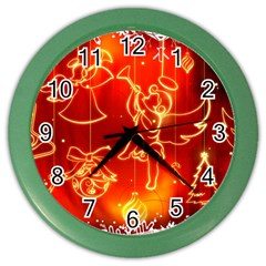 Christmas Widescreen Decoration Color Wall Clocks