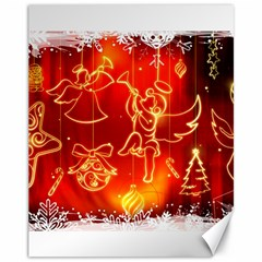 Christmas Widescreen Decoration Canvas 11  x 14