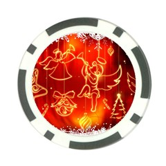 Christmas Widescreen Decoration Poker Chip Card Guards